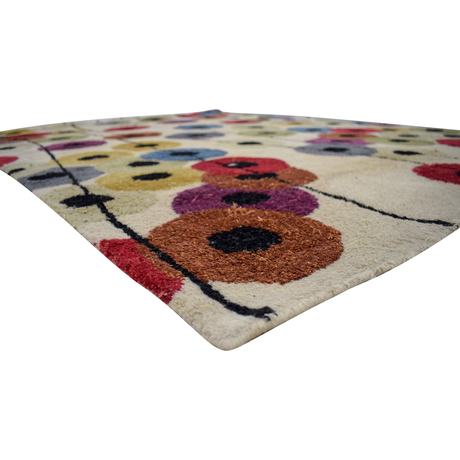 Crate & Barrel Crate & Barrel Conway Multi-Colored Rug MULTI COLORED