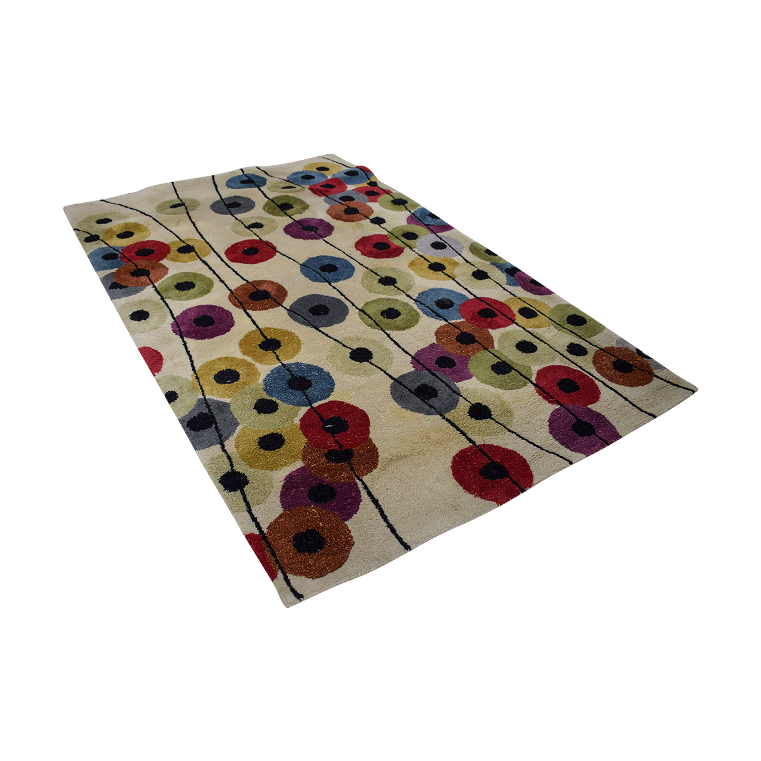 Crate & Barrel Crate & Barrel Conway Multi-Colored Rug Decor
