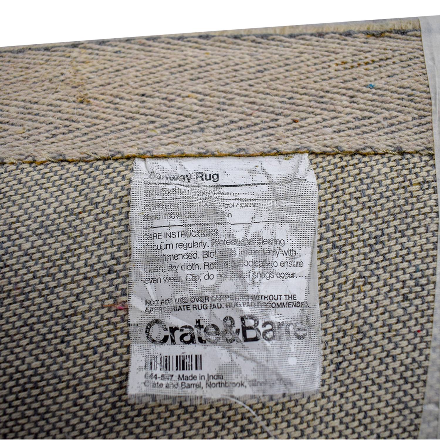 Crate & Barrel Conway Multi-Colored Rug / Decor