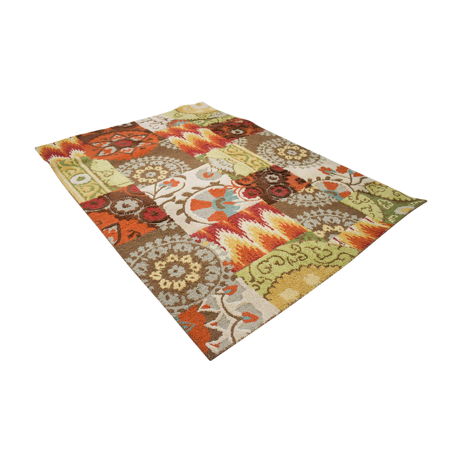 Threshold Threshold Patchwork Multi-Colored Rug second hand