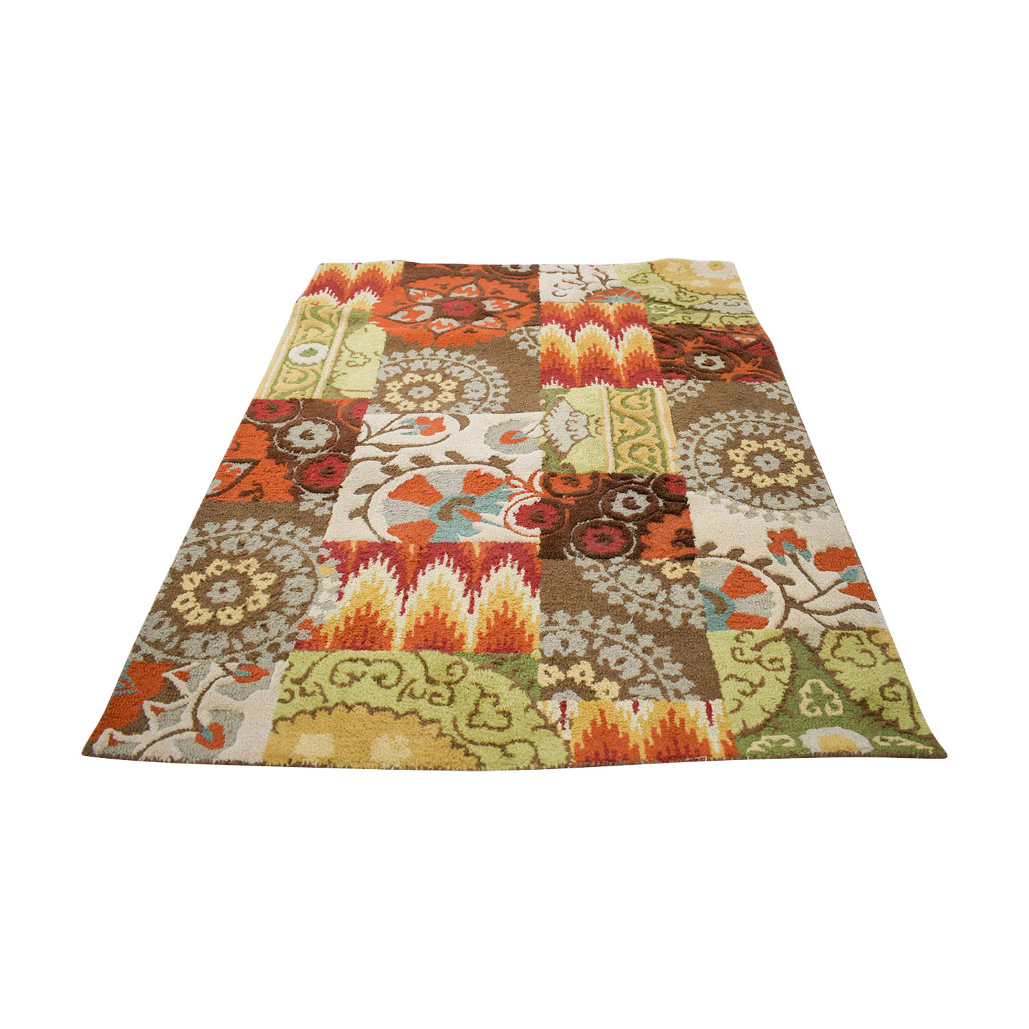 buy Threshold Patchwork Multi-Colored Rug Threshold