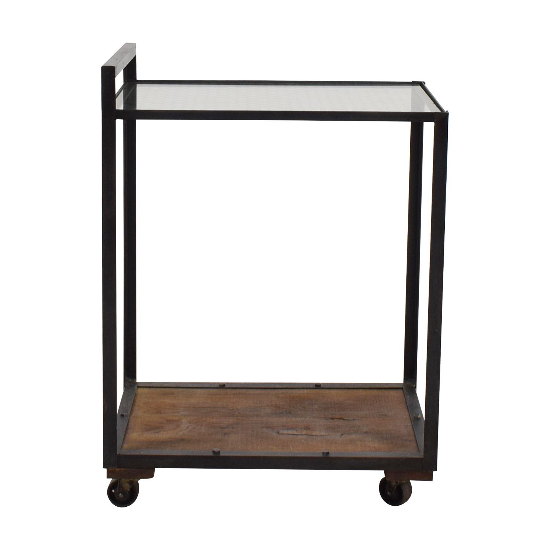 buy Olde Good Things Glass Wood & Metal Bar Cart Olde Good Things Utility Tables