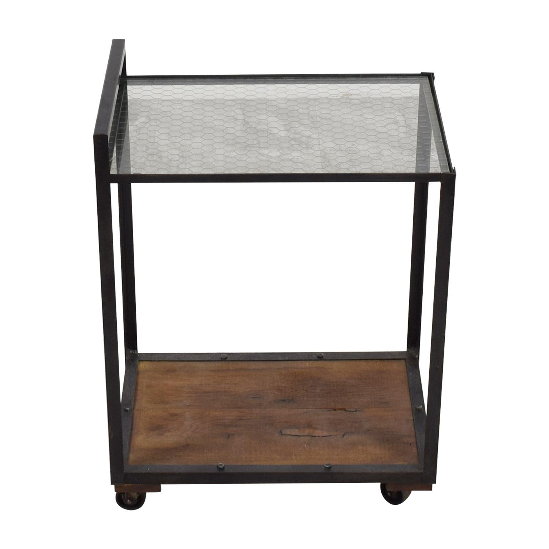 buy Olde Good Things Glass Wood & Metal Bar Cart Olde Good Things
