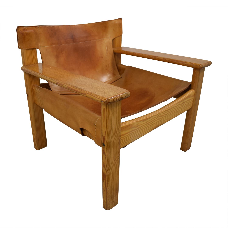 shop Vintage Cognac Leather Side Chair  Chairs