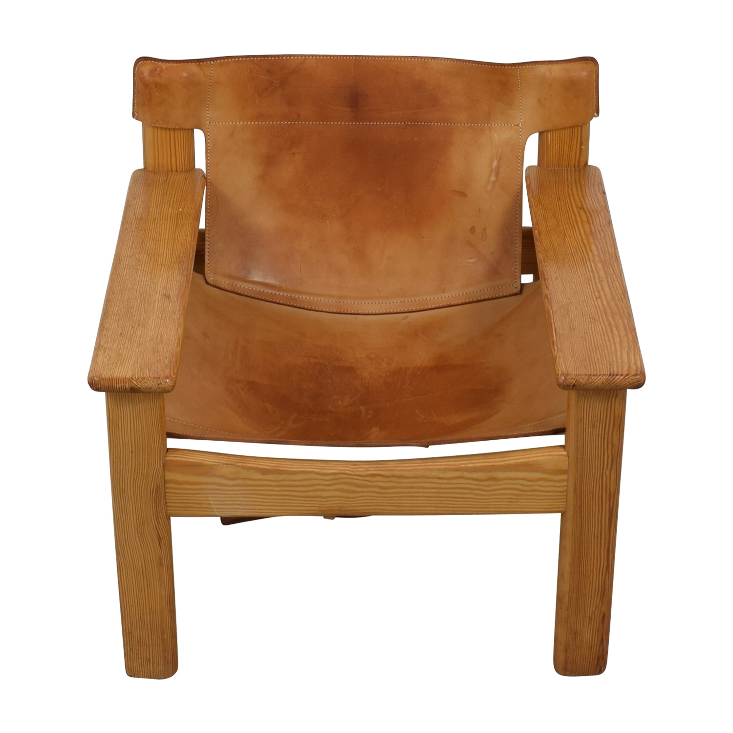 Vintage Cognac Leather Side Chair / Chairs