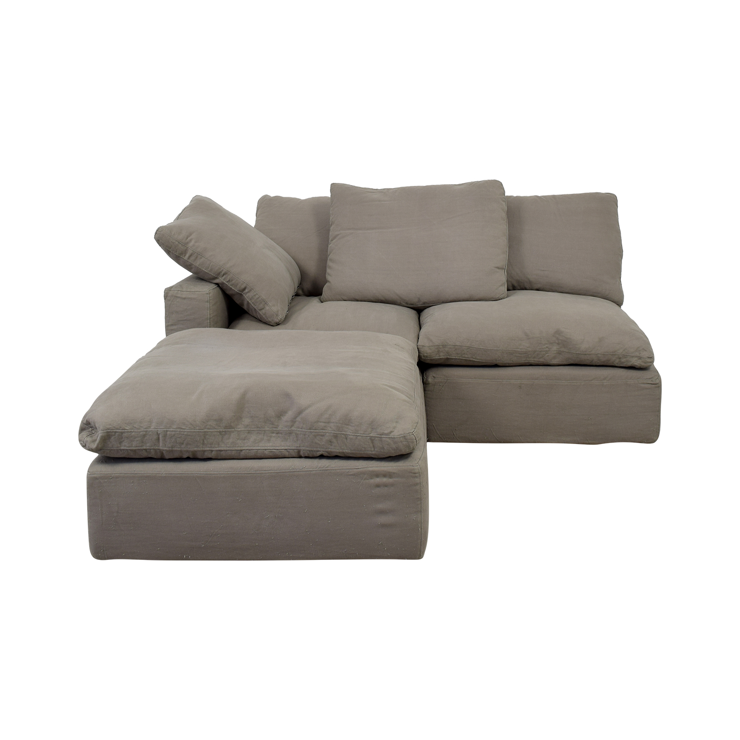Restoration Hardware Grey Cloud Feather Chaise Sofa Sectionals