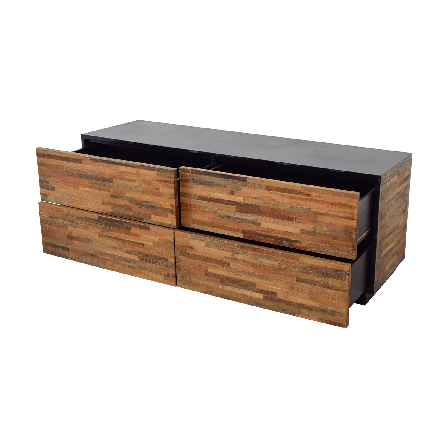 Restoration Hardware Rustic Wood Four Drawer Low Dresser Coupon