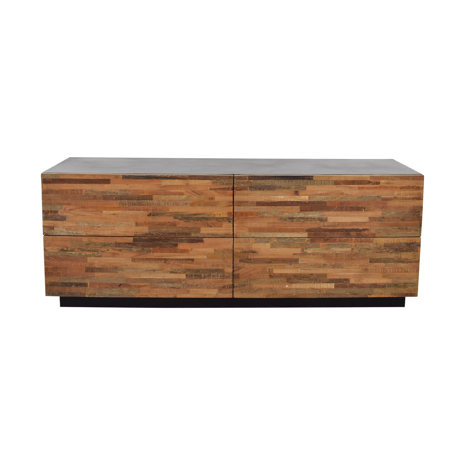 Restoration Hardware Restoration Hardware Rustic Wood Four-Drawer Low Dresser Storage