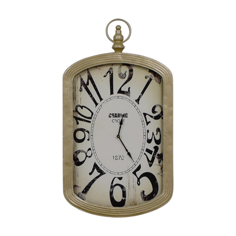 shop Home Goods Gold Framed Clock Home Goods