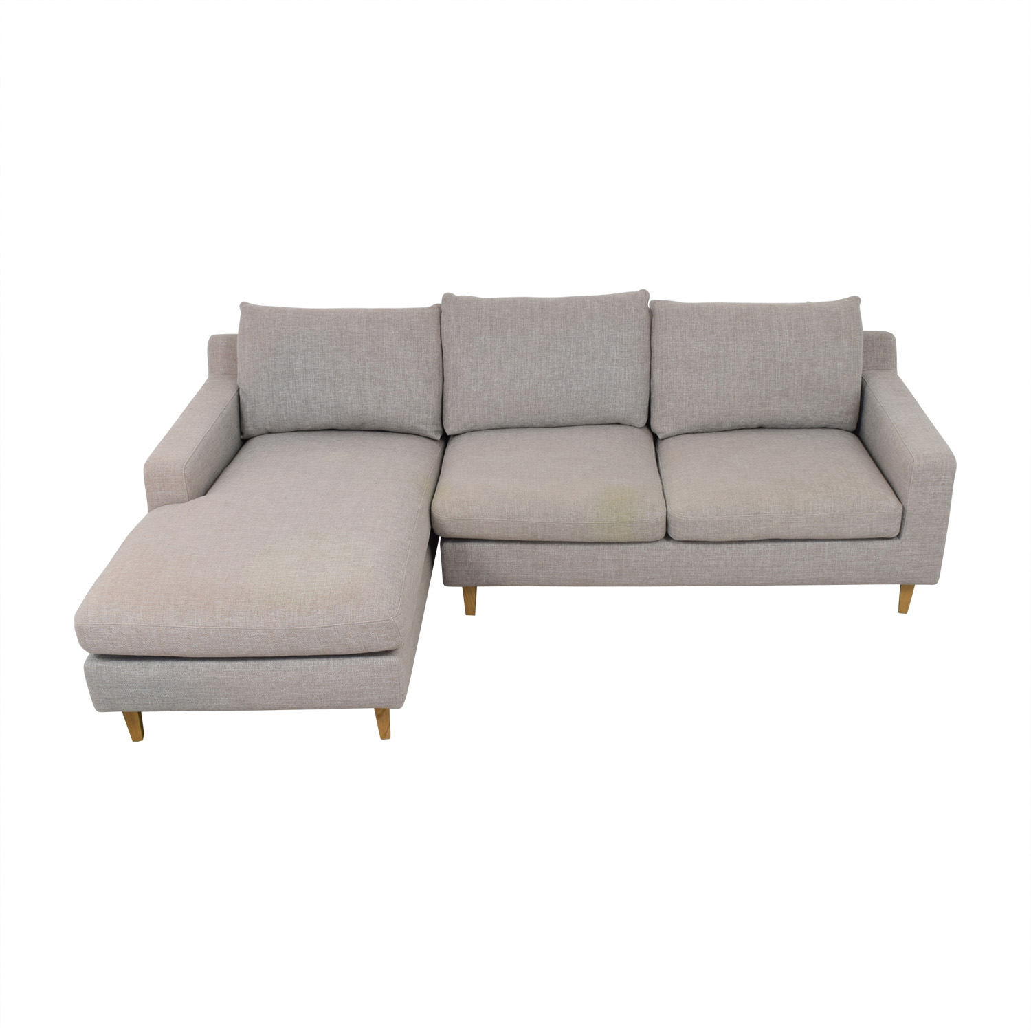 Sloan Grey Chaise Sectional / Sectionals