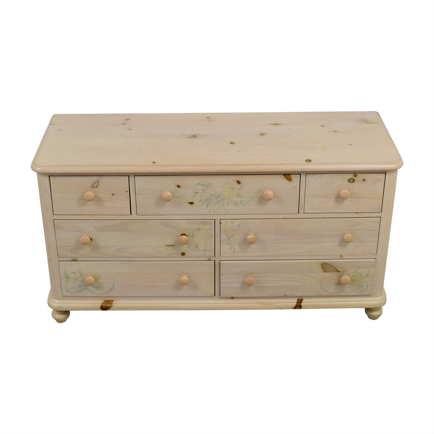 Thomasville Natural Wood Seven-Drawer Dresser sale