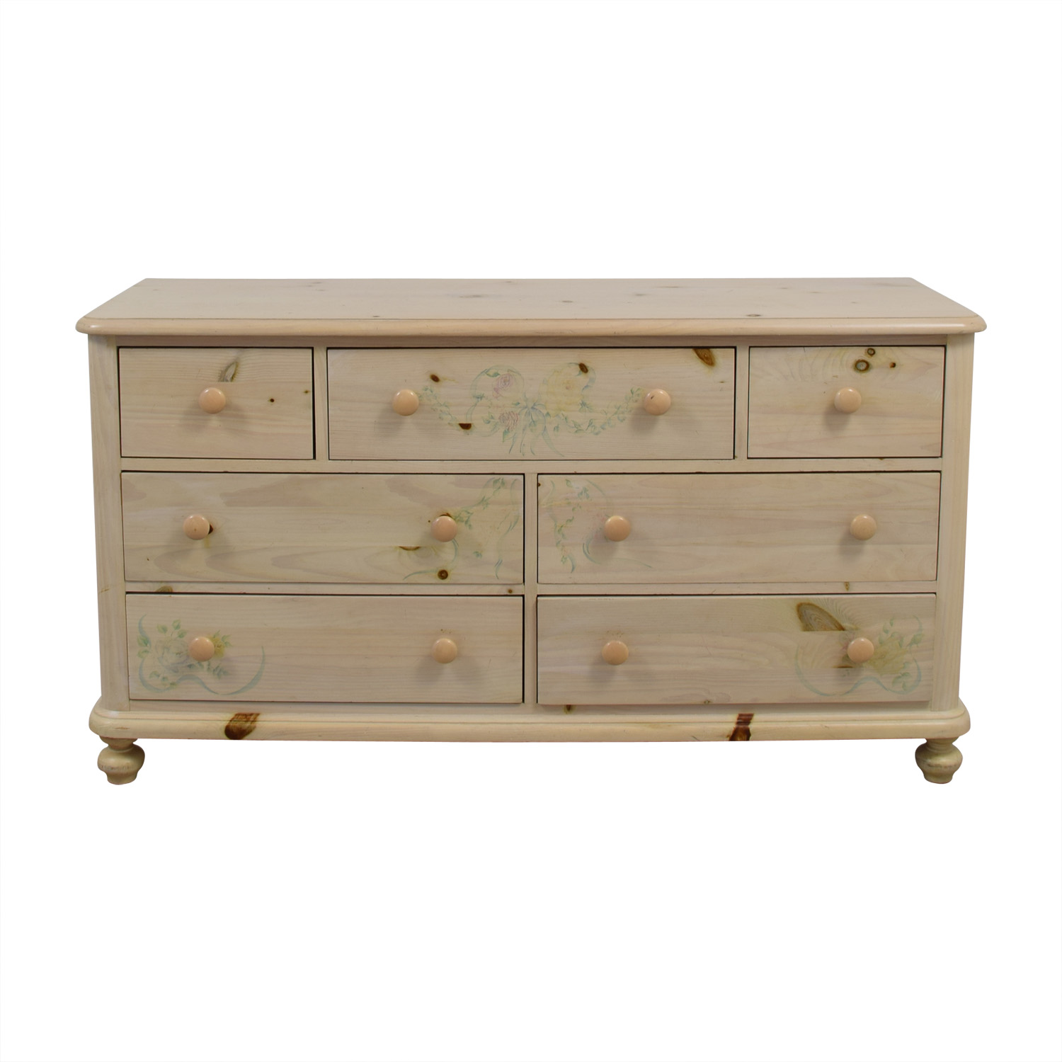 Thomasville Thomasville Natural Wood Seven-Drawer Dresser dimensions