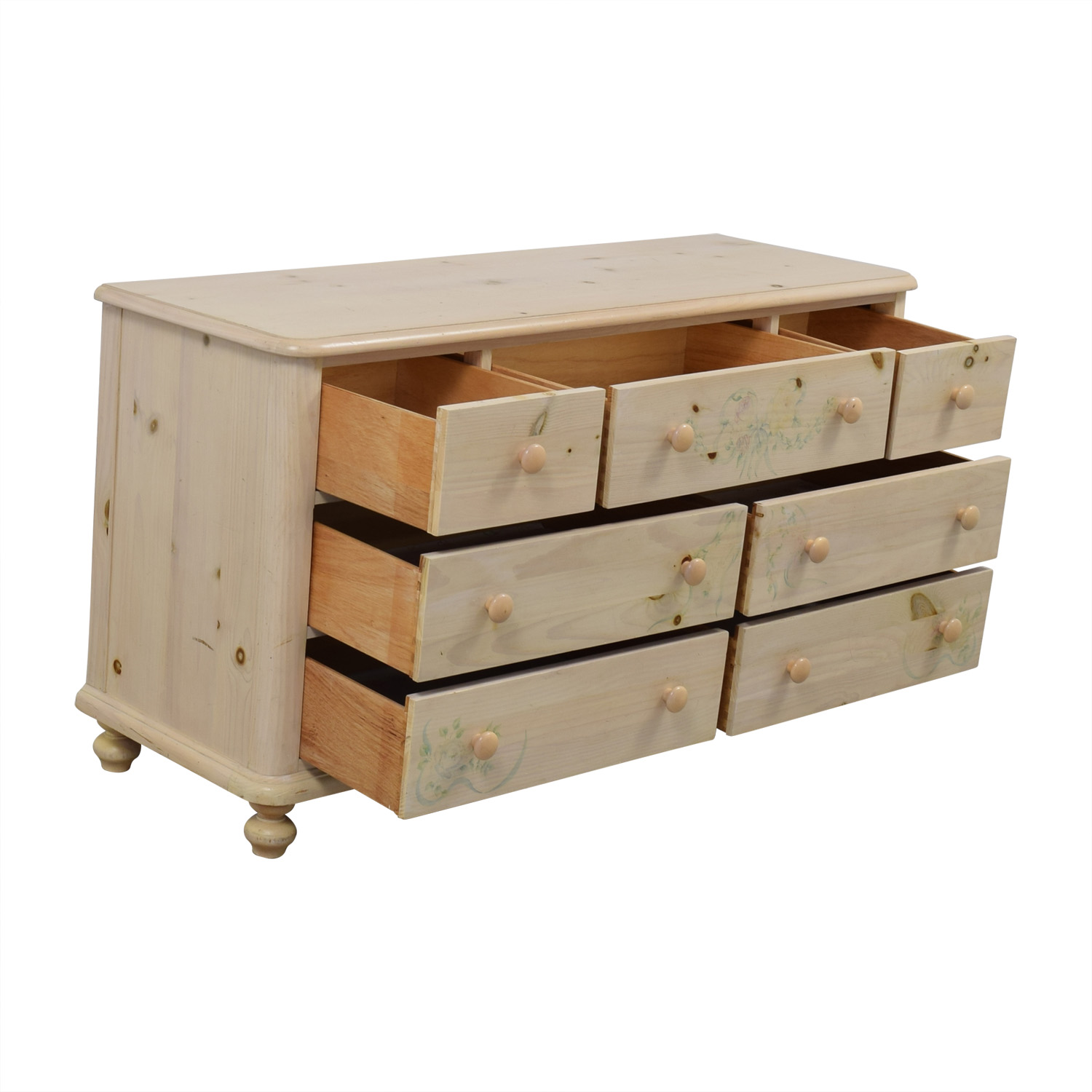 Thomasville Thomasville Natural Wood Seven-Drawer Dresser