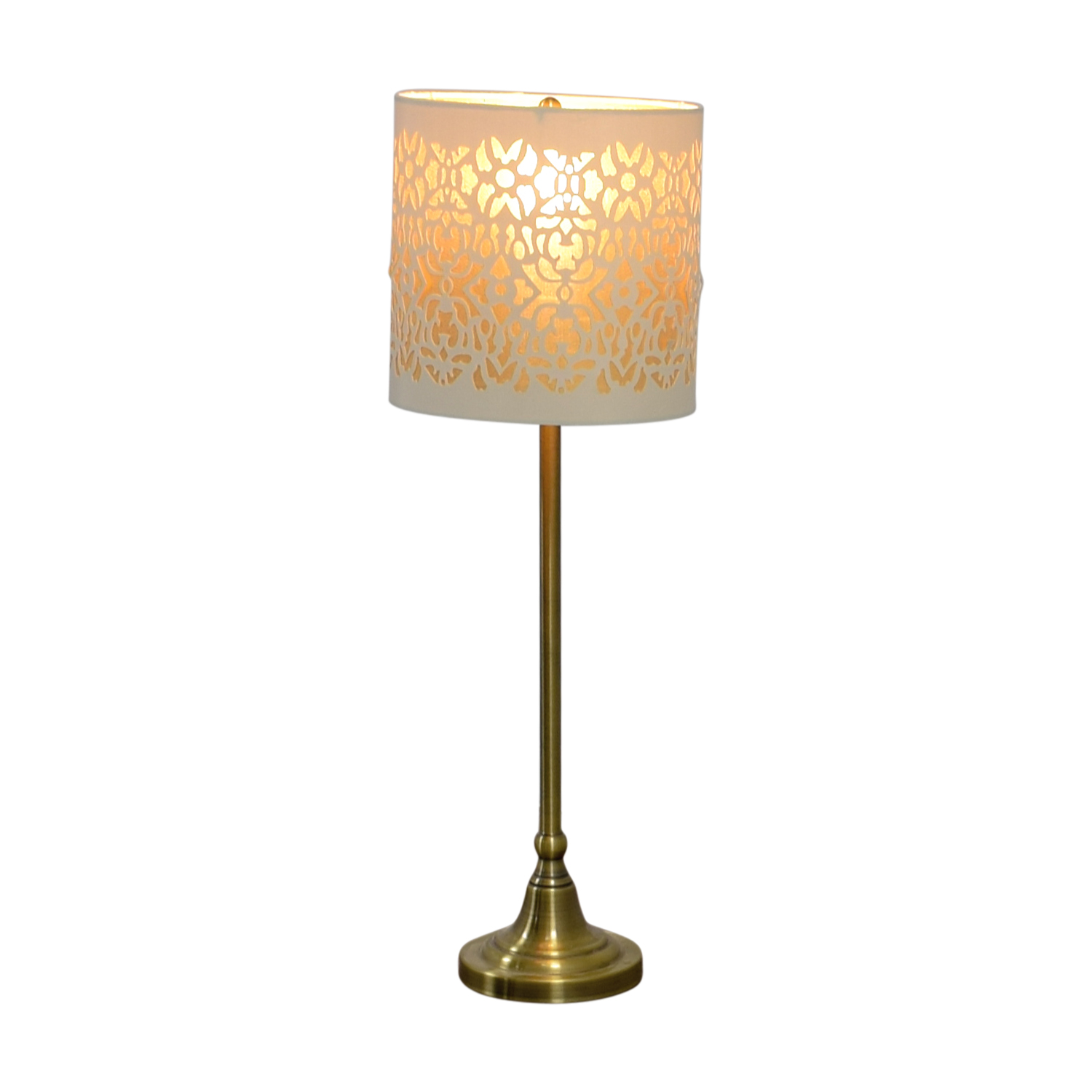 Cut Out White and Gold Table Lamp second hand