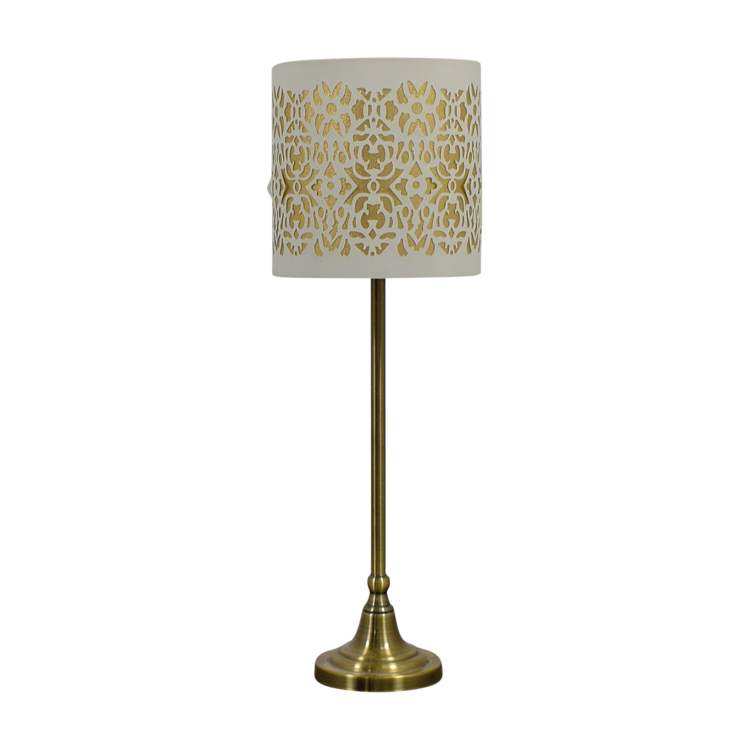 Cut Out White and Gold Table Lamp price