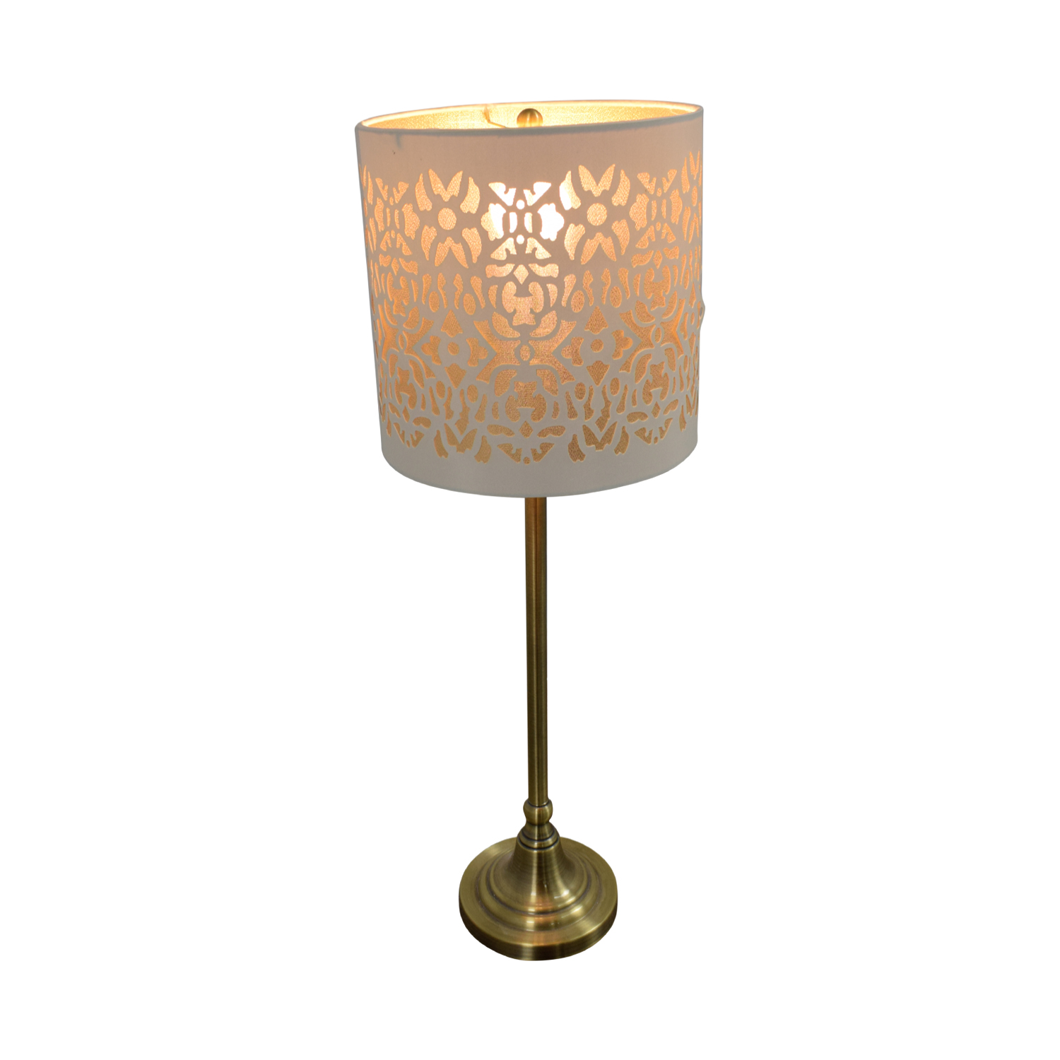 Cut Out White and Gold Table Lamp Decor