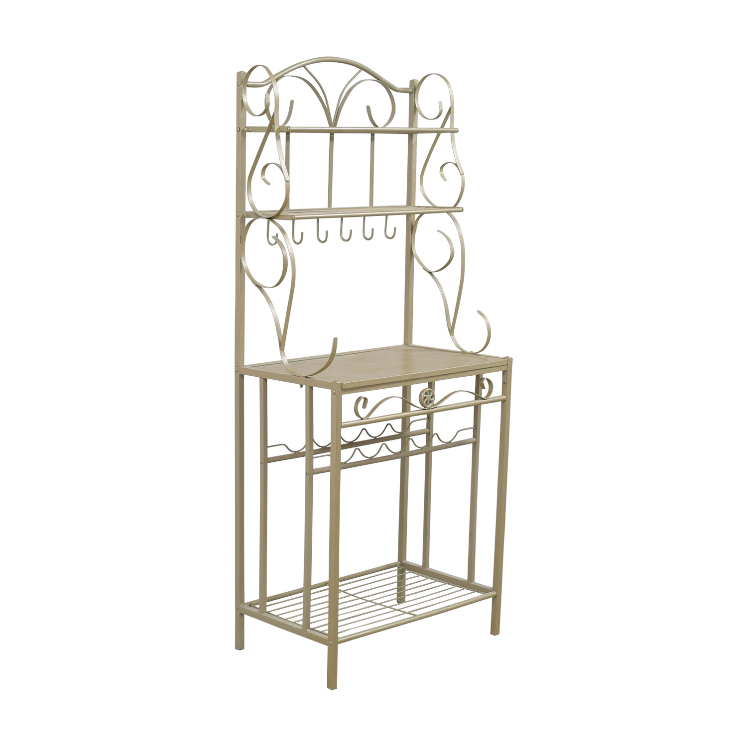 Gold Bakers Rack / Bookcases & Shelving