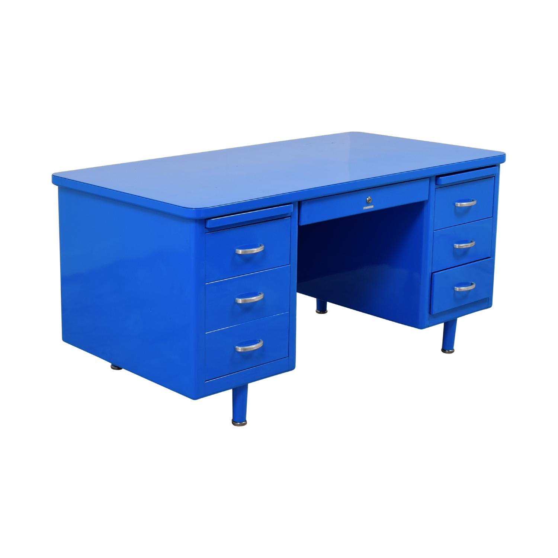 Steelcase Steelcase Refinished Vintage Blue Tanker Desk price