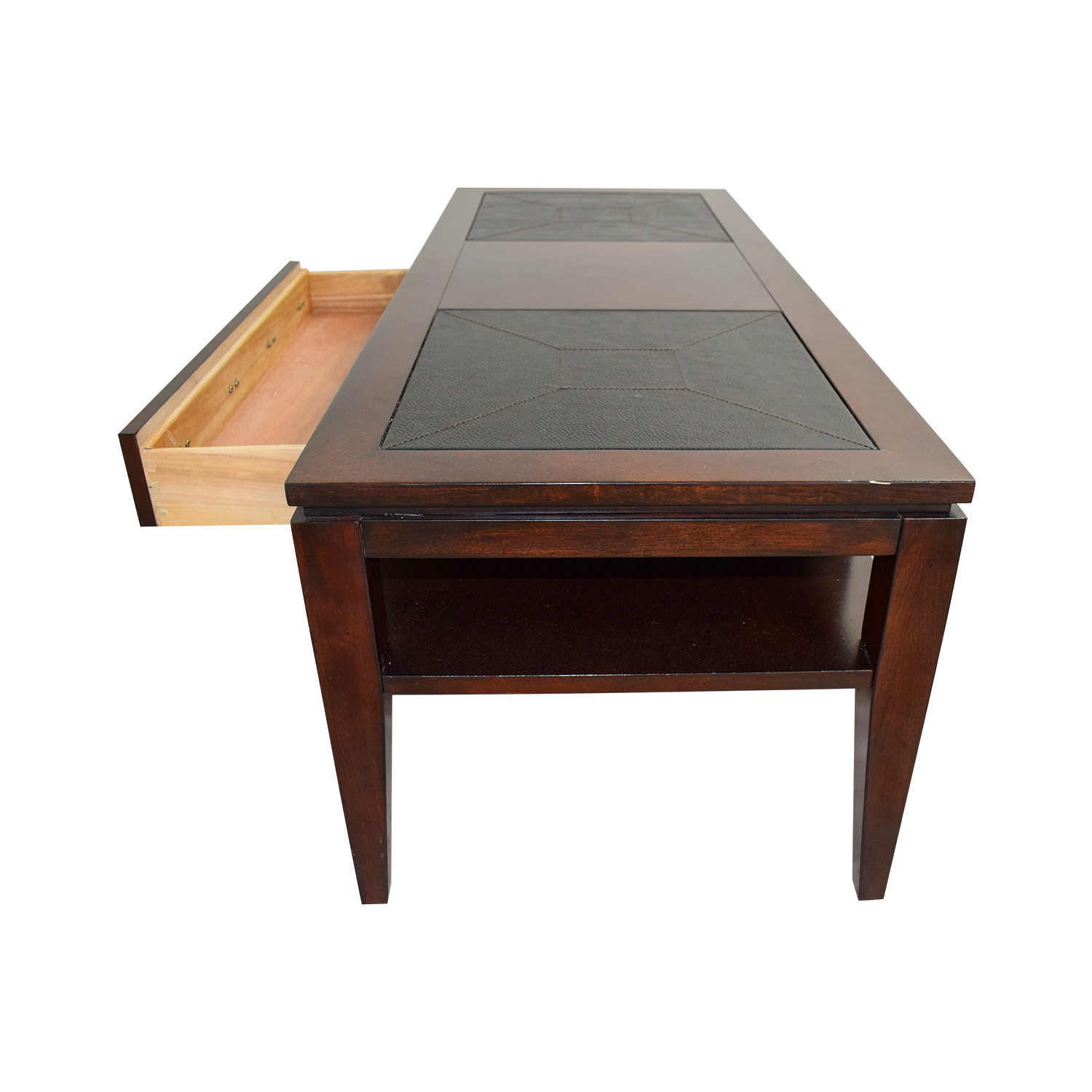 Raymour & Flanigan Raymour & Flanigan Single Drawer Coffee Table