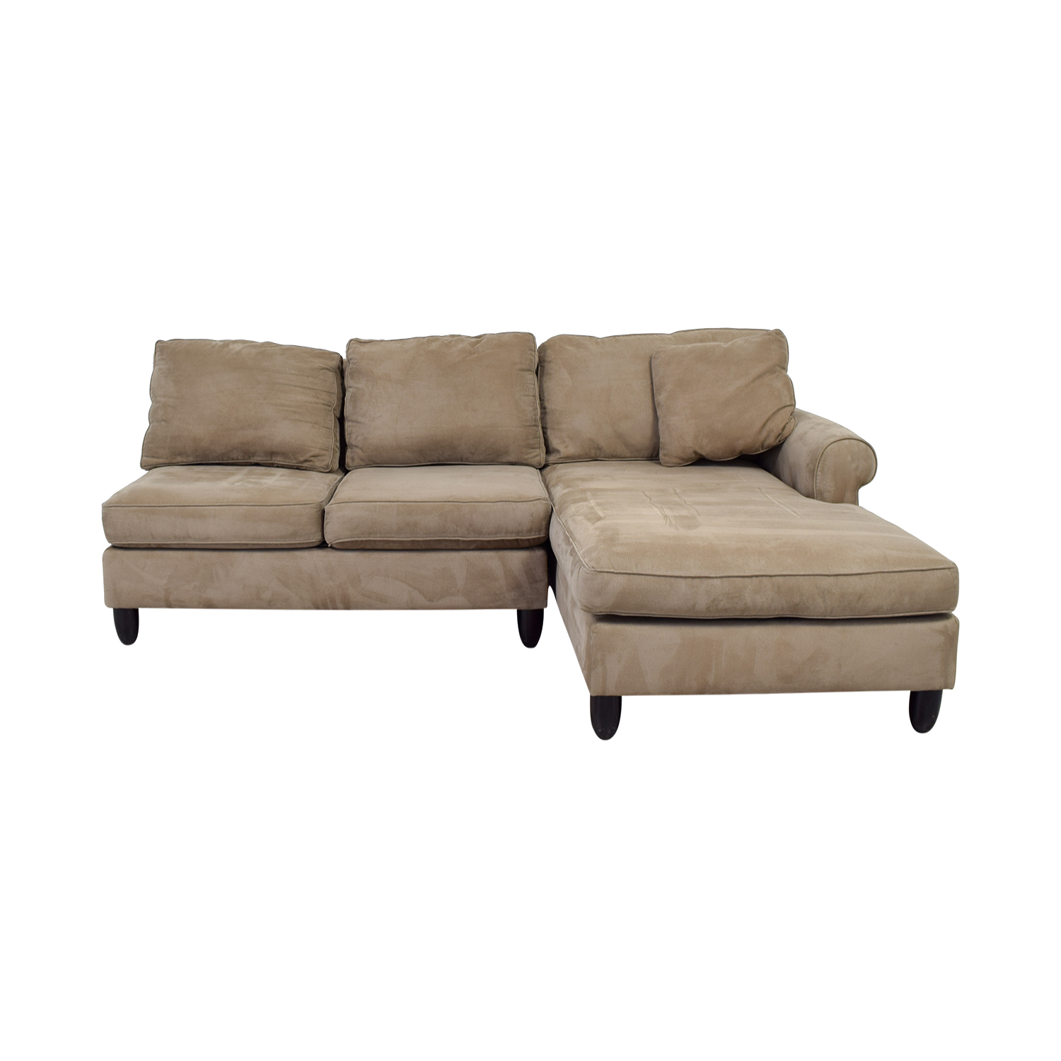 90% OFF - Havertys Haverty's Tan Chaise Sectional / Sofas