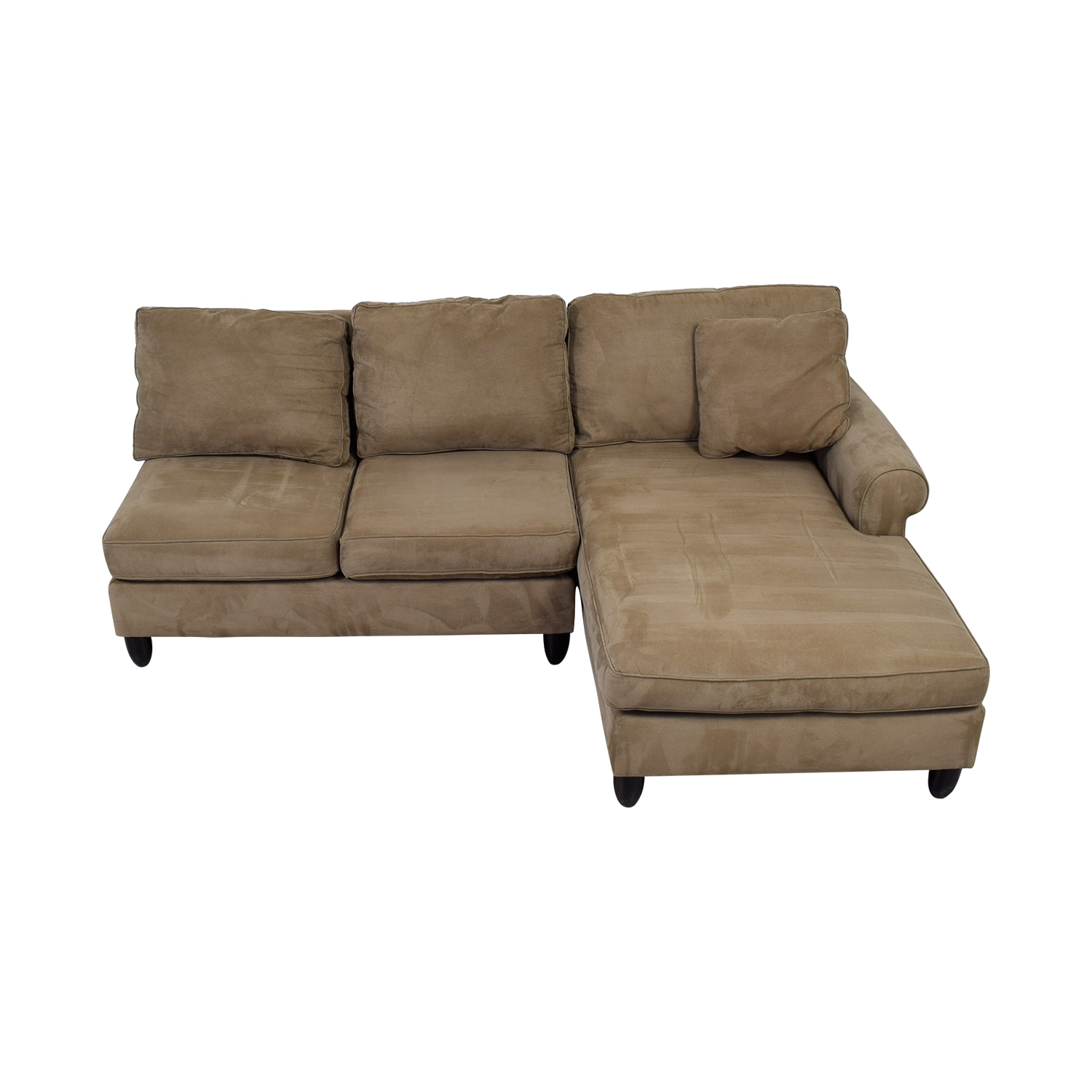 Haverty's Haverty's Tan Chaise Sectional Sofas