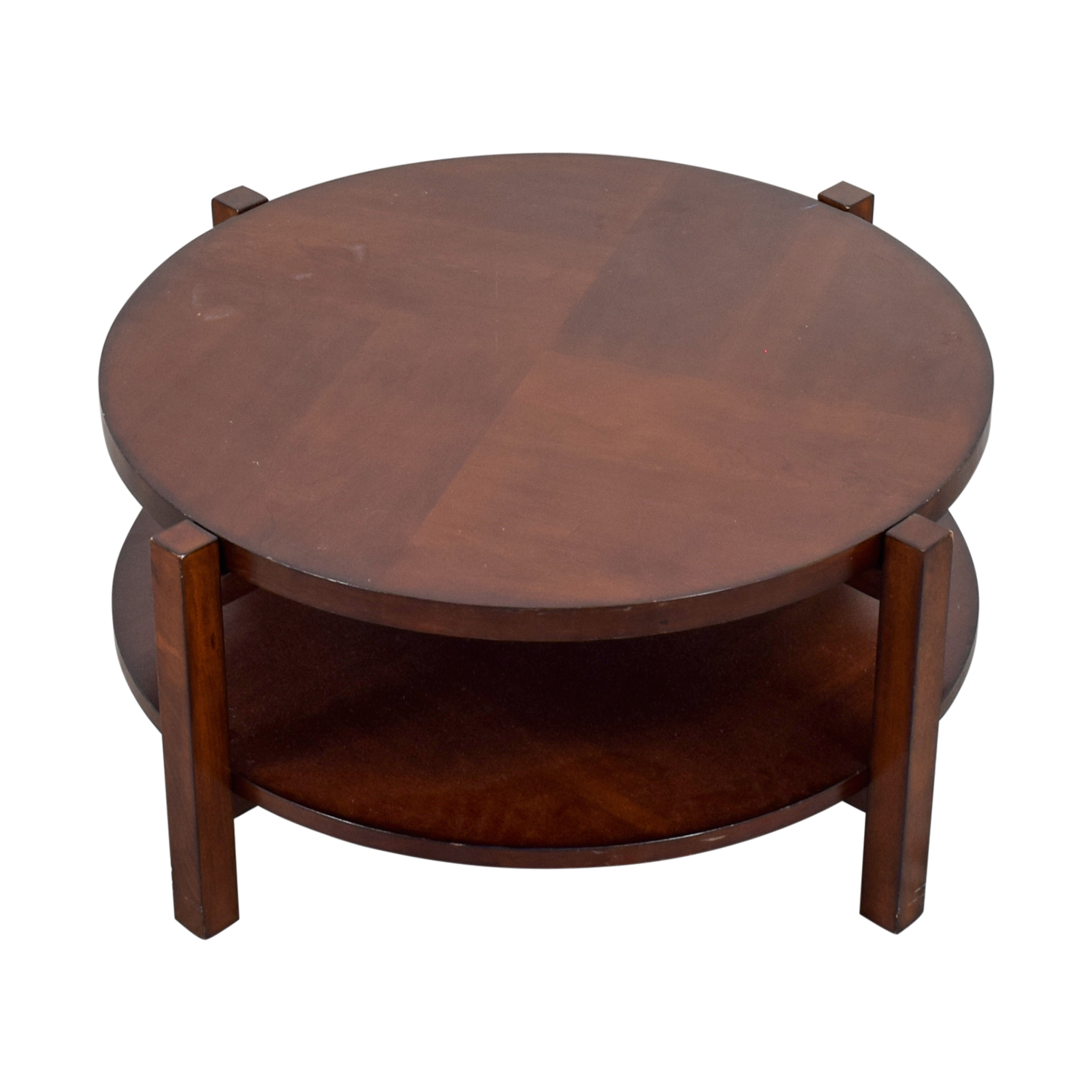 shop Bassett Bassett Rotating Round Wood Coffee Table online