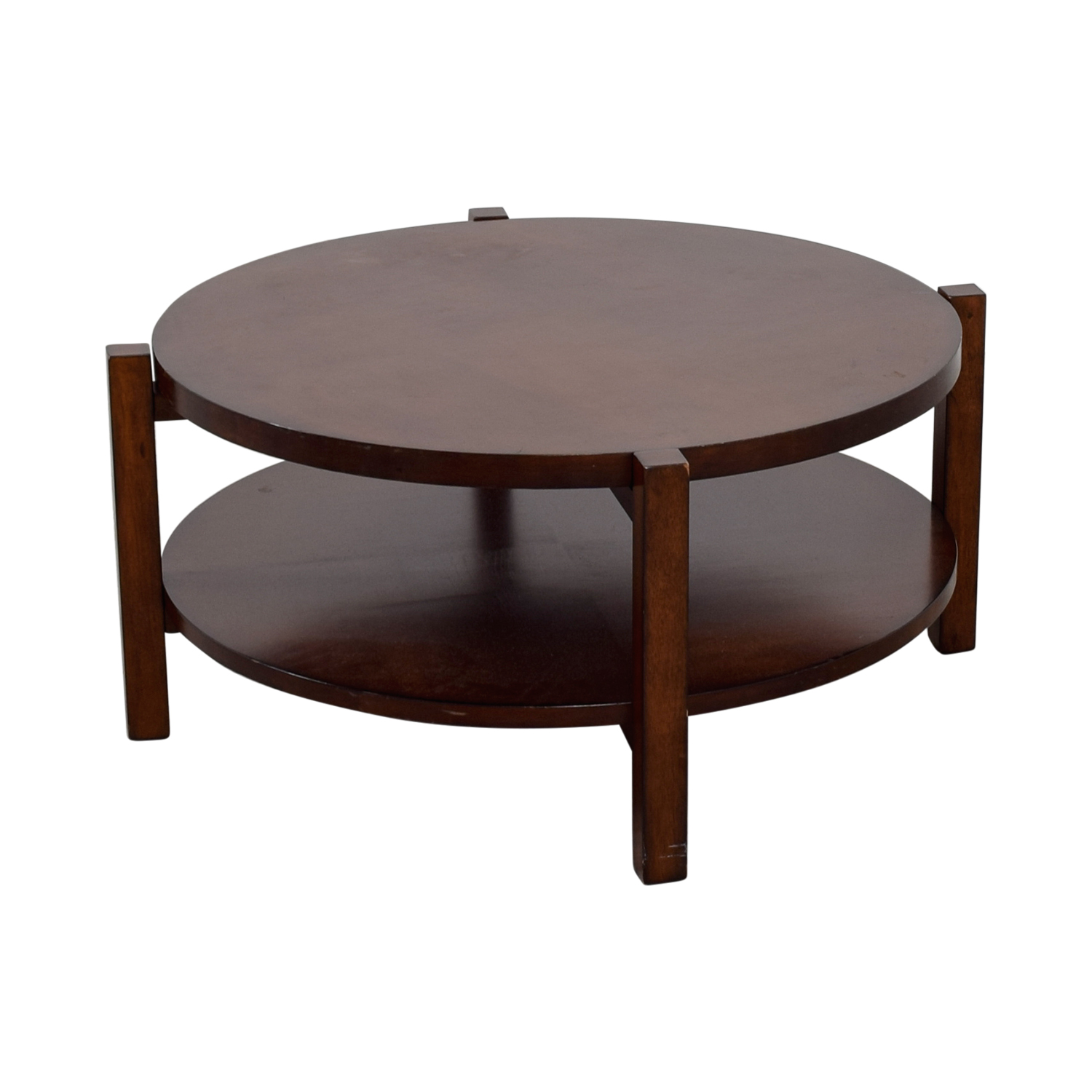 shop Bassett Rotating Round Wood Coffee Table Bassett Tables