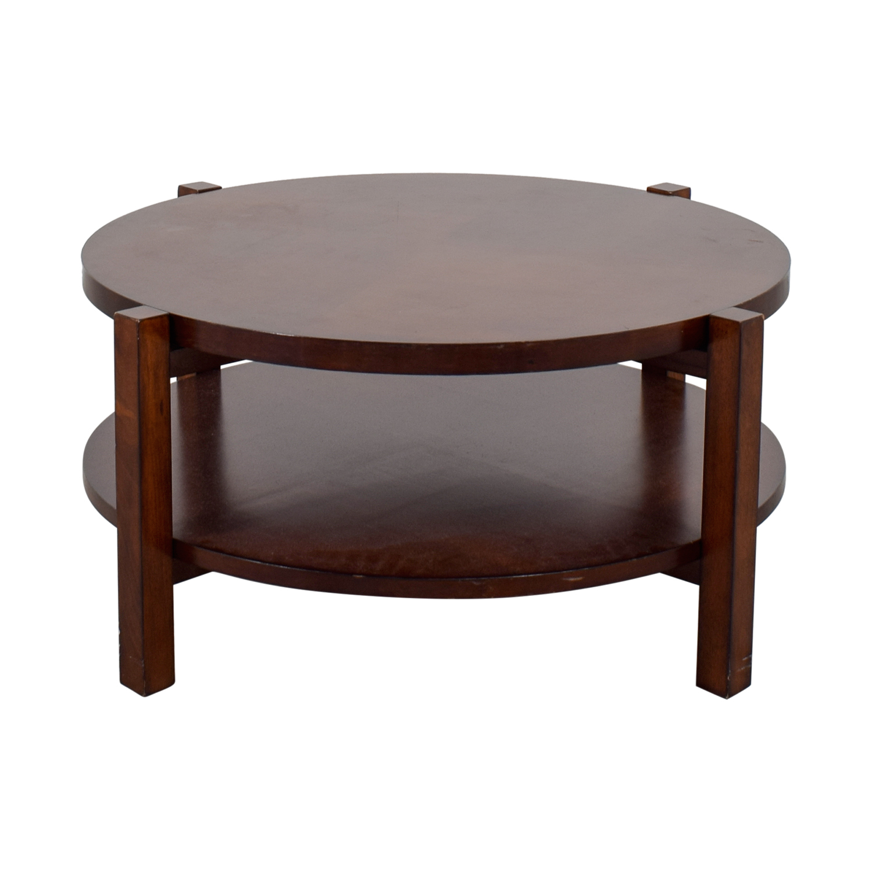 buy Bassett Rotating Round Wood Coffee Table Bassett Coffee Tables