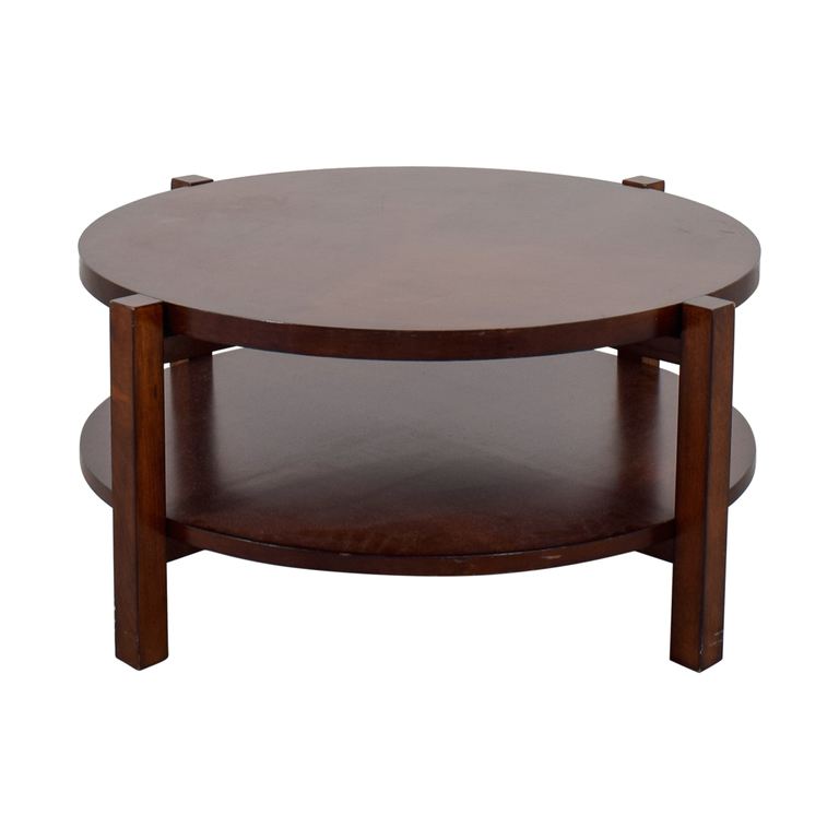 Bassett Bassett Rotating Round Wood Coffee Table dimensions