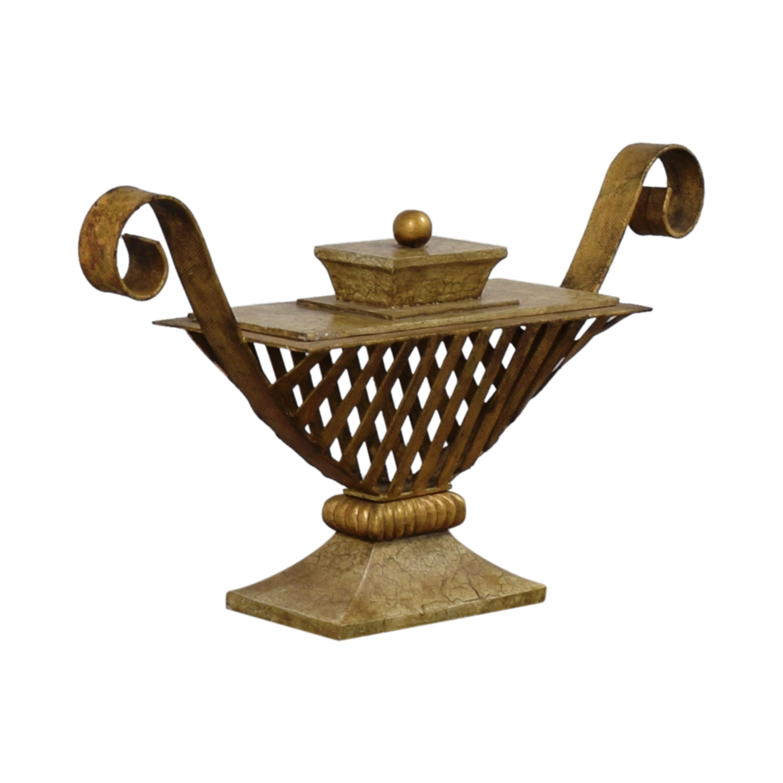 Vintage Bronze Vase Decorative Accents