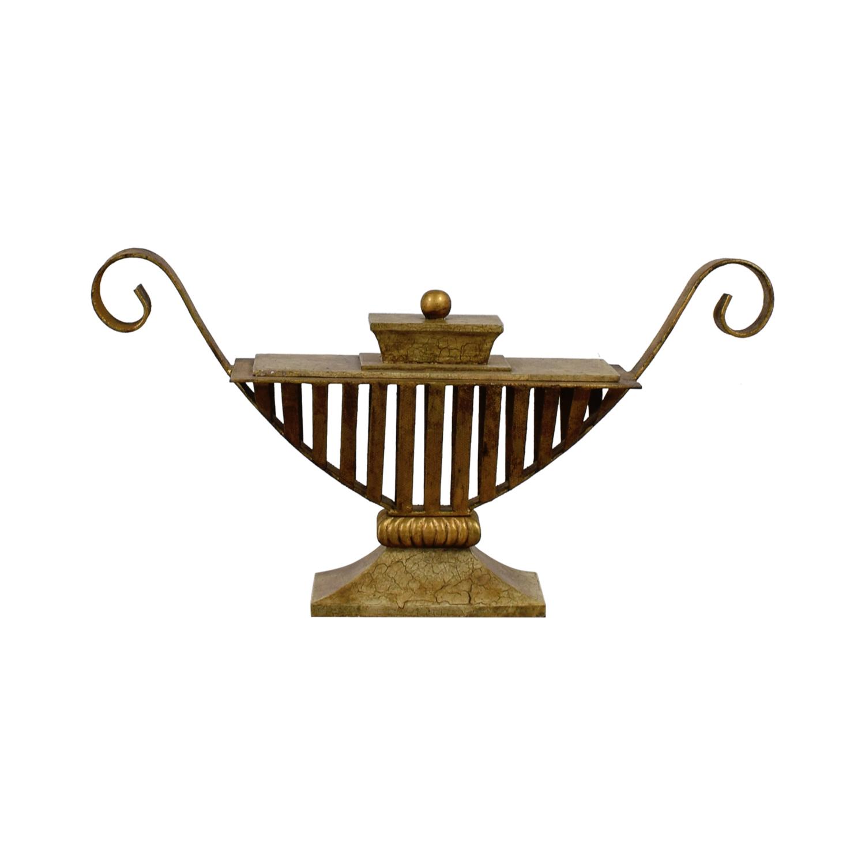 Vintage Bronze Vase / Decorative Accents
