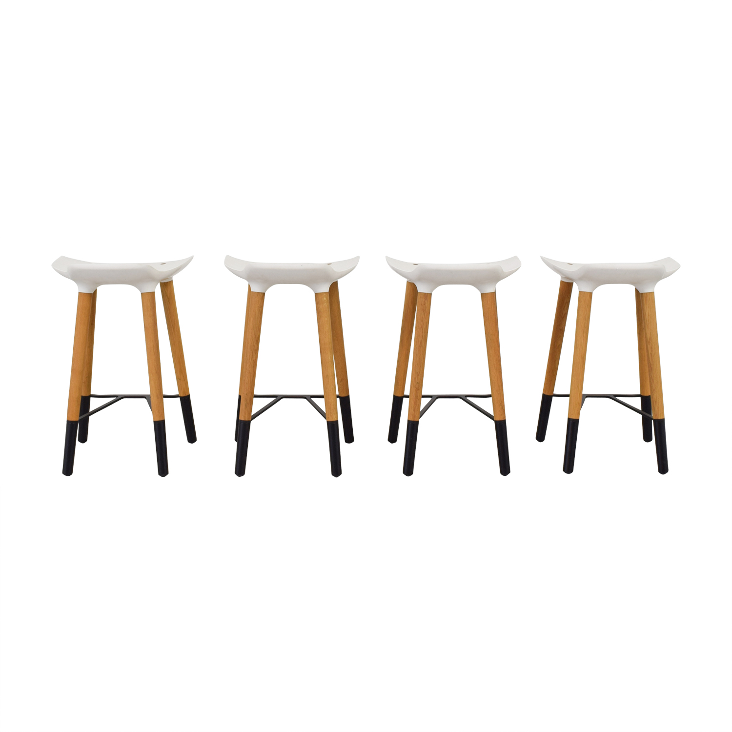 Quinze and Milan Quinze and Milan Pilot White Bar Stools on sale