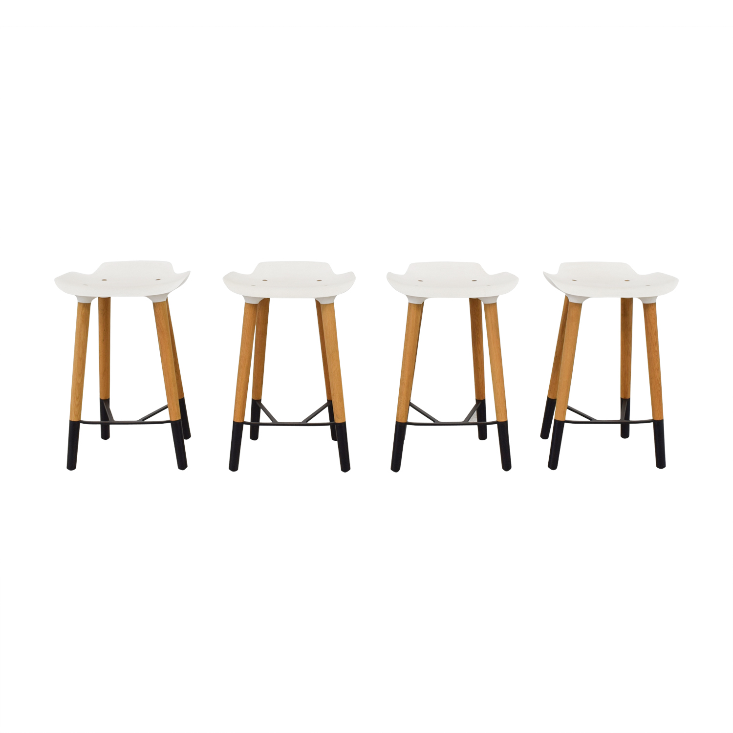 Quinze and Milan Quinze and Milan Pilot White Bar Stools Sofas