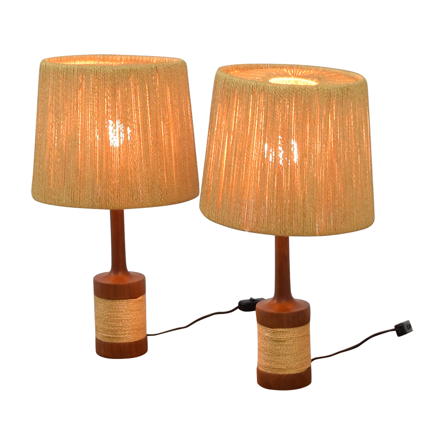Sisal and Wood Table Lamps discount