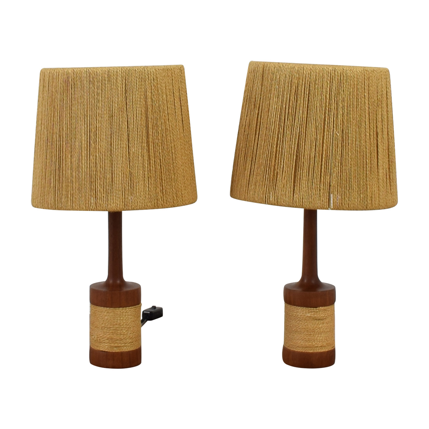 Sisal and Wood Table Lamps
