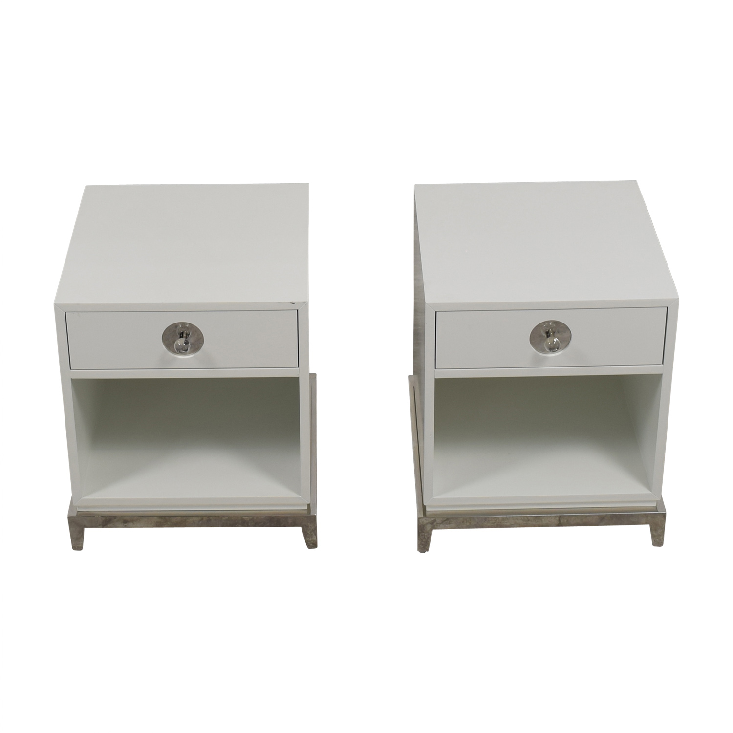 Jonathan Adler Jonathan Adler White Single-Drawer Side Tables coupon