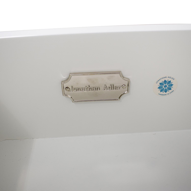 Jonathan Adler White Single-Drawer Side Tables / End Tables