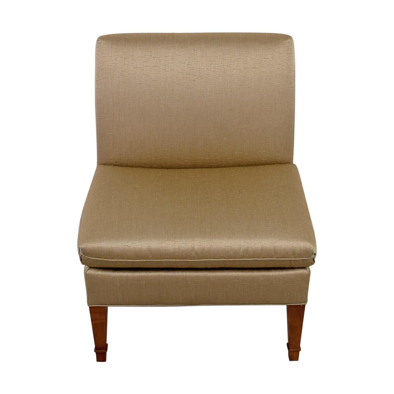 Ethan Allen Ethan Allen Custom Rose Gold Upholstered Slipper Chair used