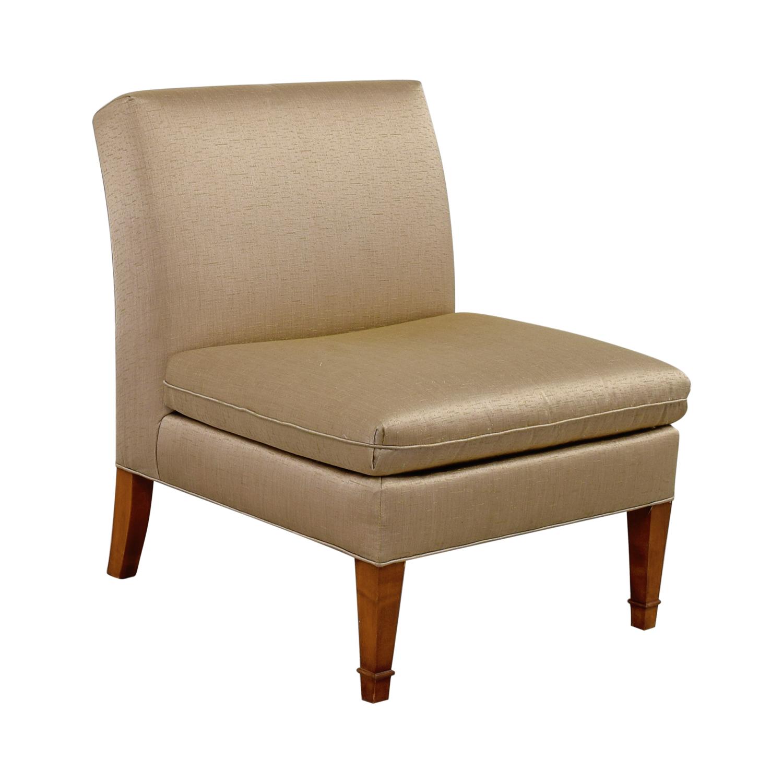 Ethan Allen Ethan Allen Custom Rose Gold Upholstered Slipper Chair price