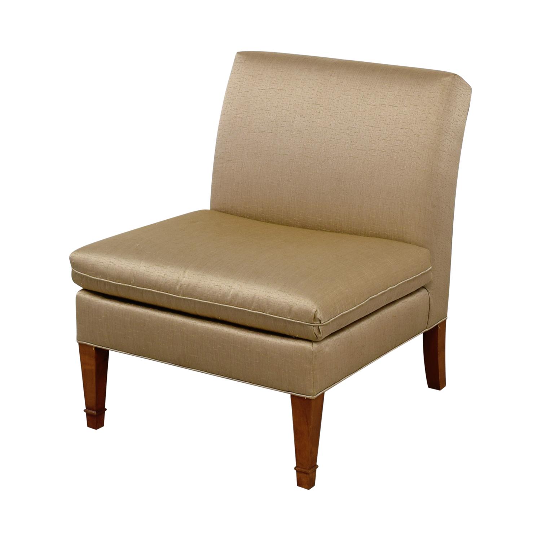 Ethan Allen Ethan Allen Custom Rose Gold Upholstered Slipper Chair Chairs
