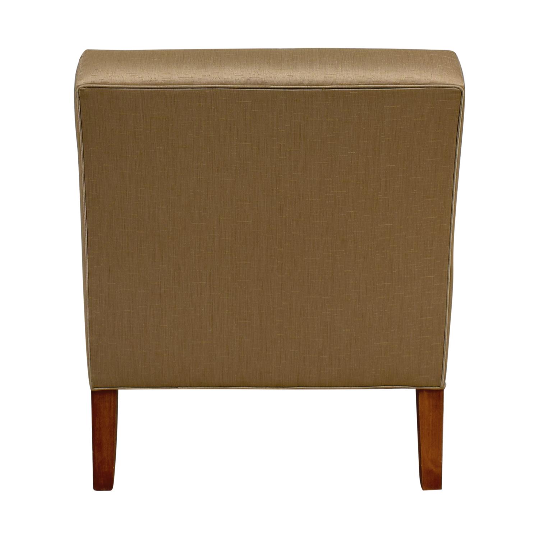 Ethan Allen Ethan Allen Custom Rose Gold Upholstered Slipper Chair second hand