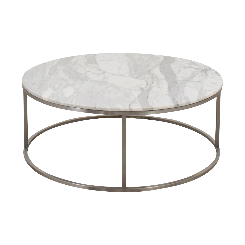shop Design Within Reach Marble Round Coffee Table Design Within Reach