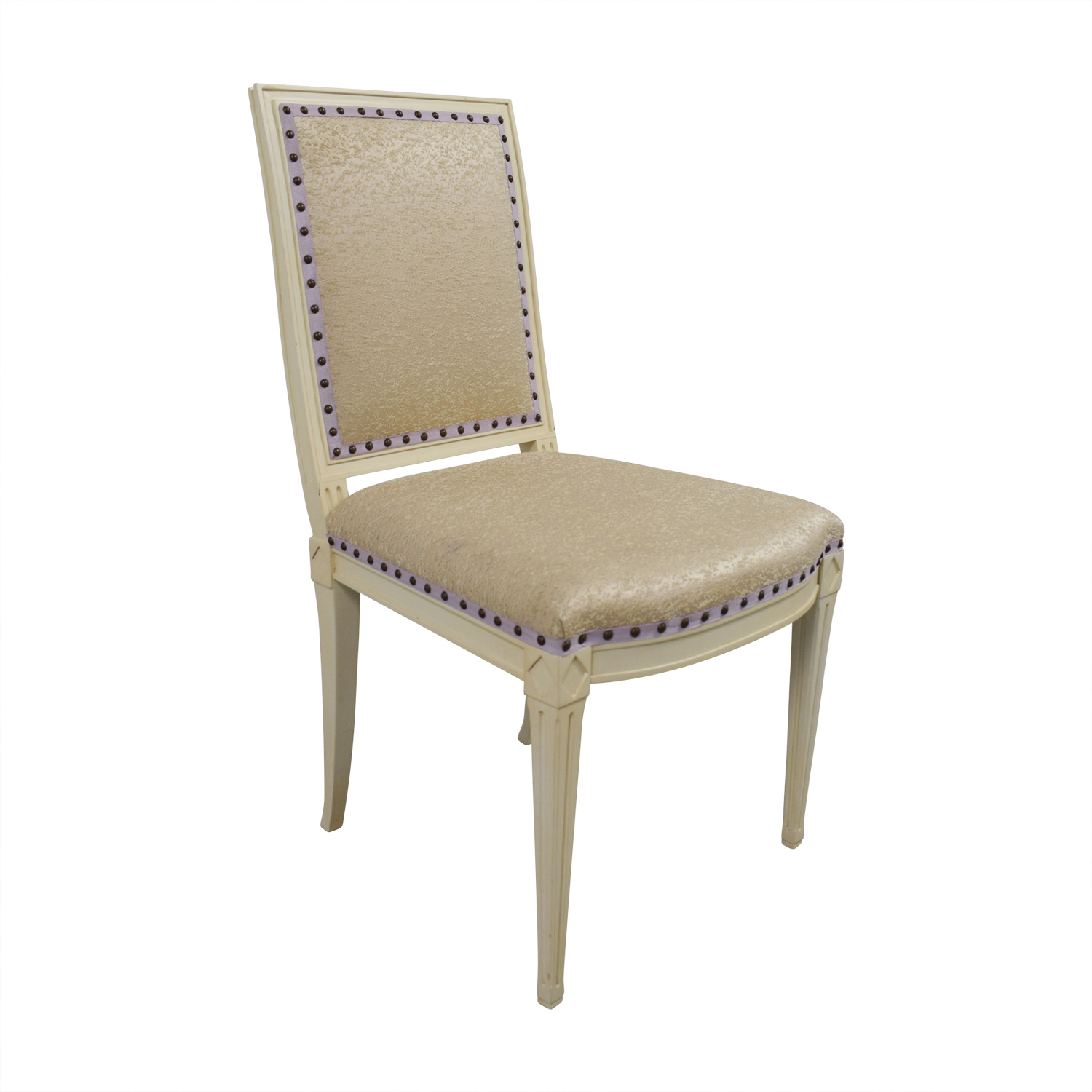 Custom Nailhead Upholstered Desk Chair for sale