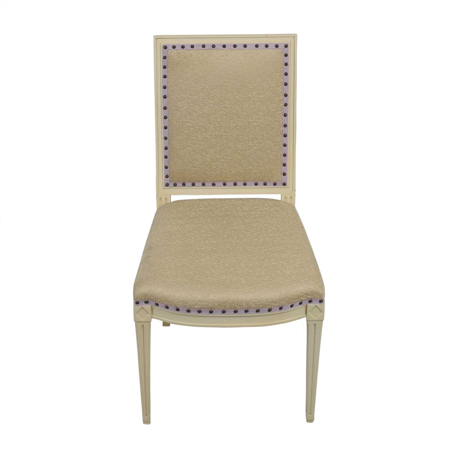 shop Custom Nailhead Upholstered Desk Chair  Accent Chairs