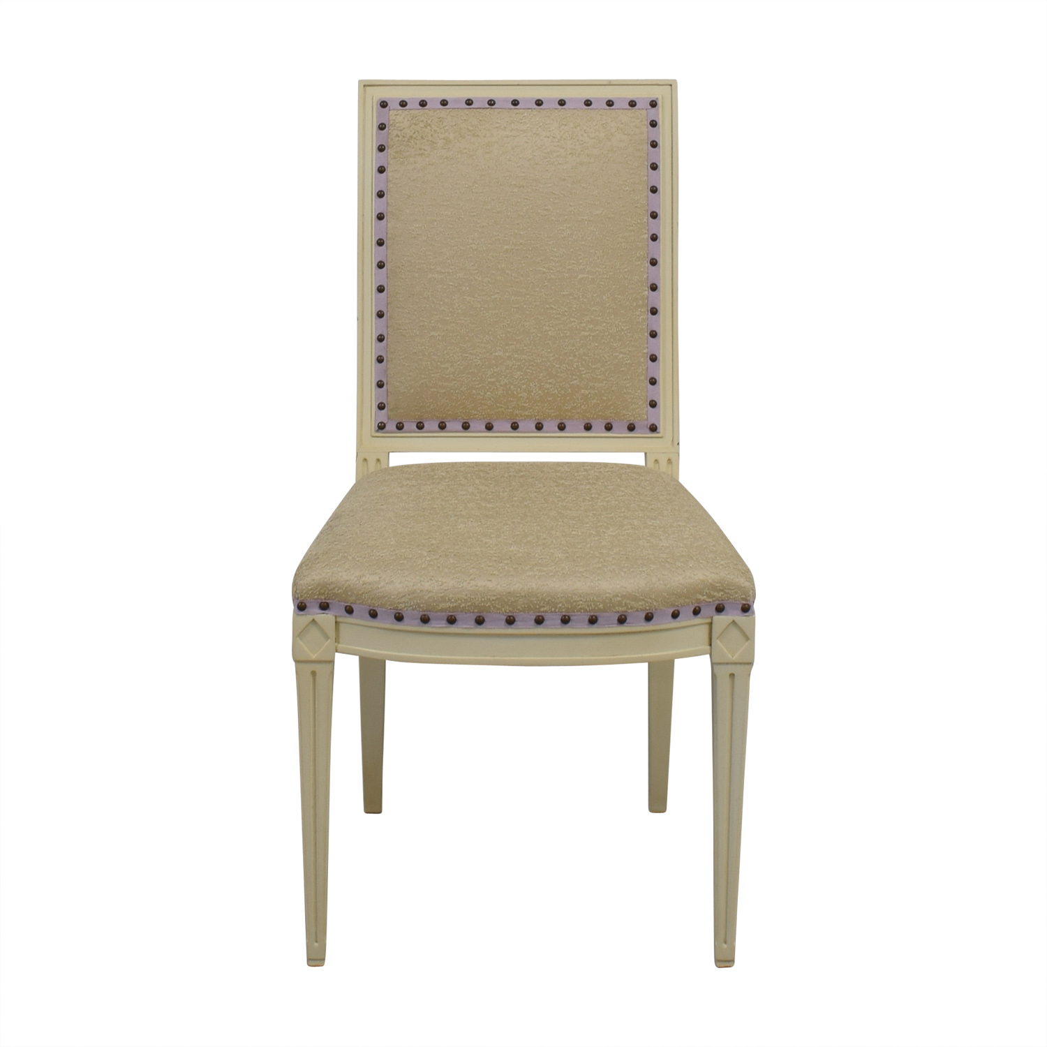 Custom Nailhead Upholstered Desk Chair
