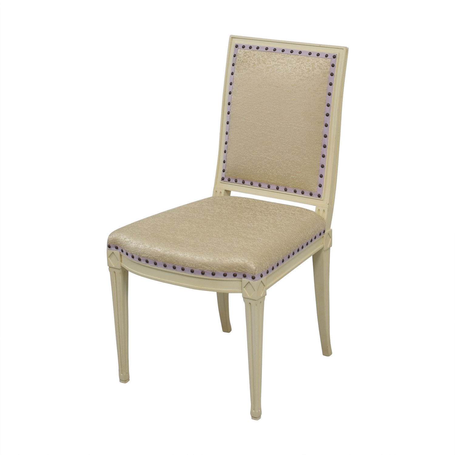 Custom Nailhead Upholstered Desk Chair second hand