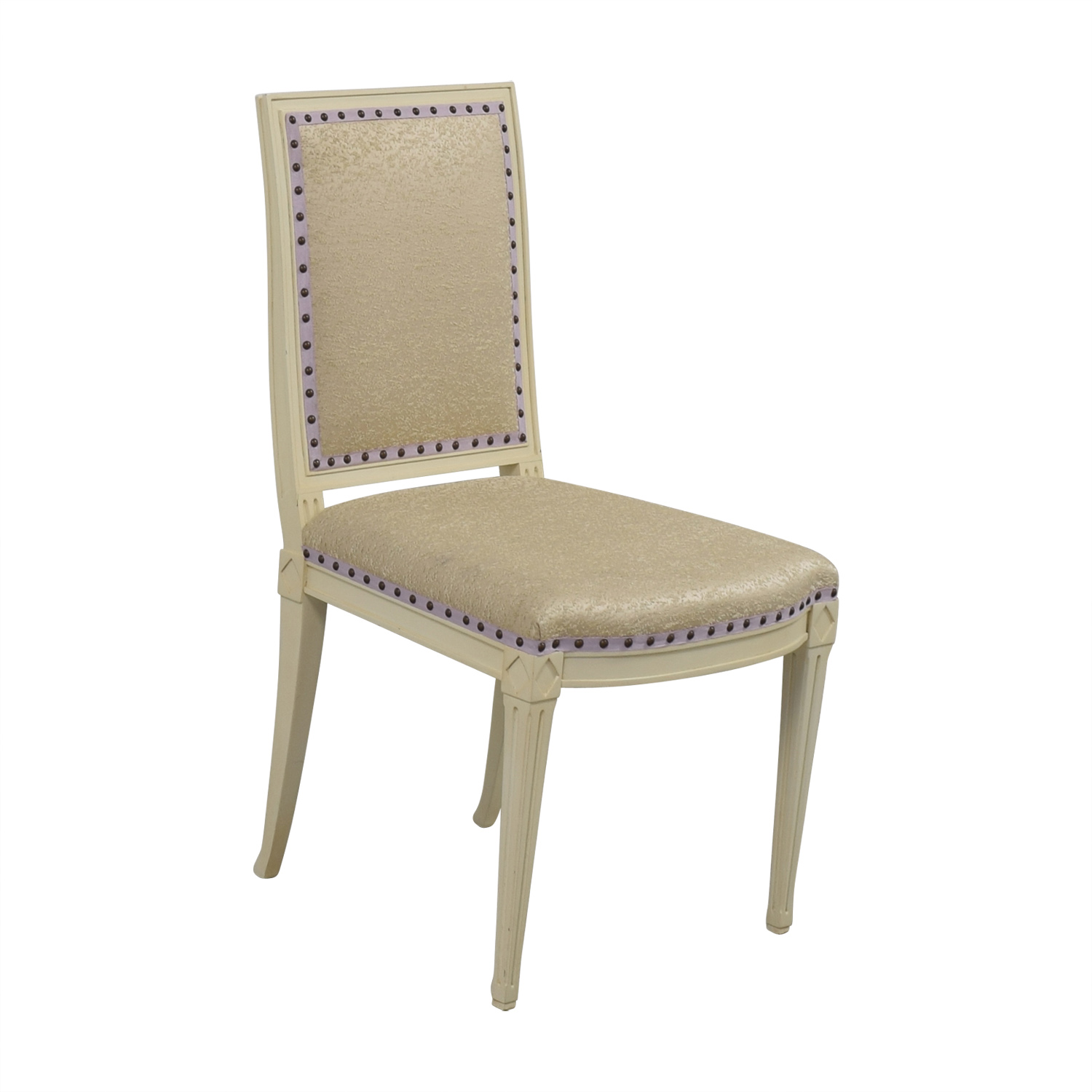 Custom Nailhead Upholstered Desk Chair nyc