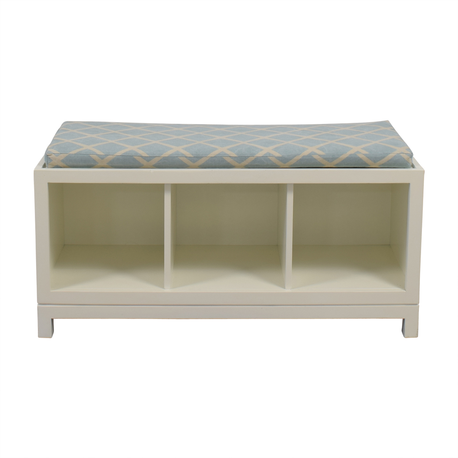 Serena and Lily White Storage Bench Serena and Lily