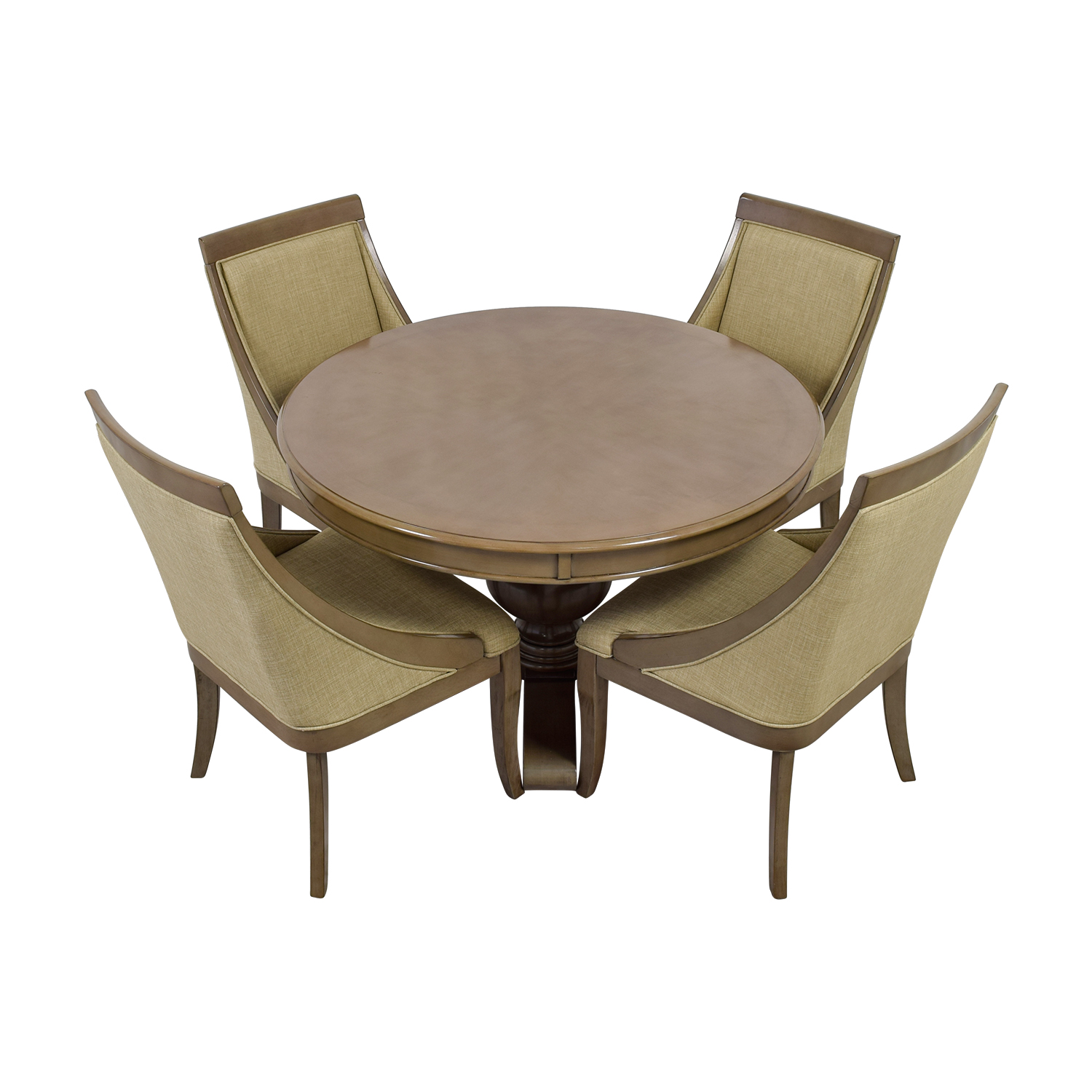 Bob's Furniture Gatsby Round Dining Set with Swoop Chairs sale