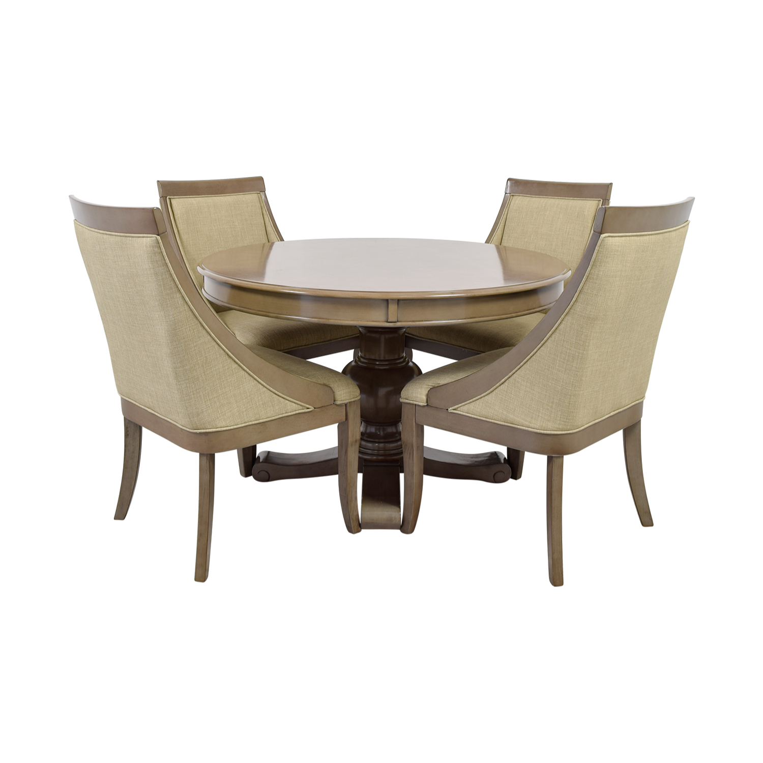 Bobu0027s Furniture Bobu0027s Furniture Gatsby Round Dining Set With Swoop Chairs Dining  Sets ...